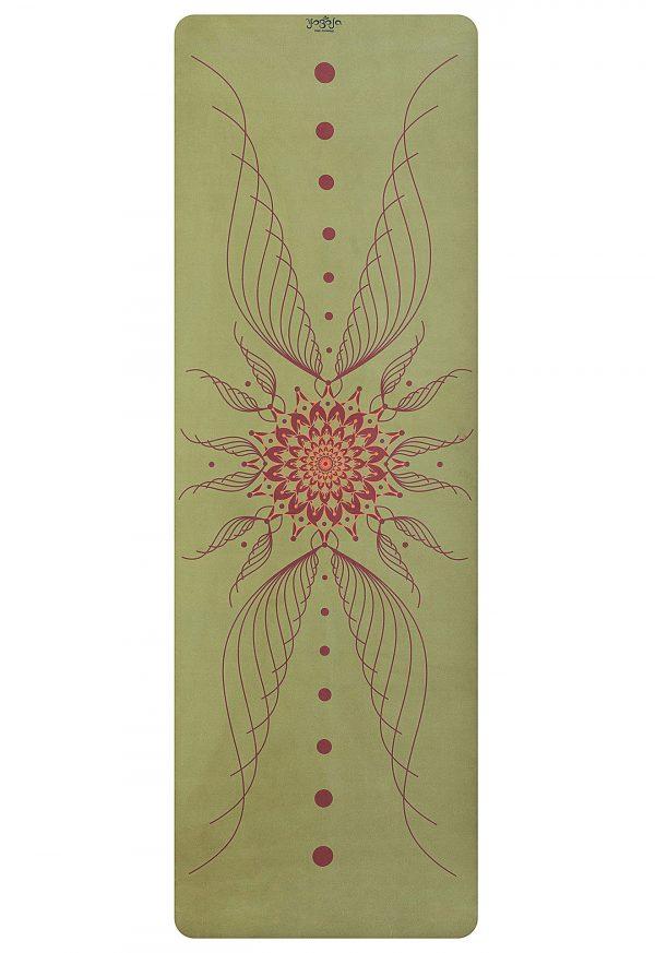 grüne symmetrische yogamatte für zuhause